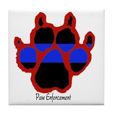 Red Paw  (Paw Enforcement- light) FRO Tile Coaster