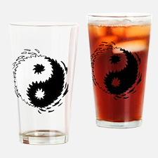 2-ying yang copy Drinking Glass