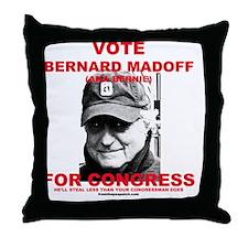 bernardmadoff Throw Pillow