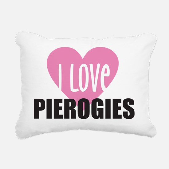 i love PIEROGIES girl co Rectangular Canvas Pillow