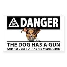 Doggie Danger Decal