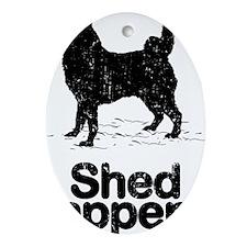 Norwegian-Elkhound09 Oval Ornament