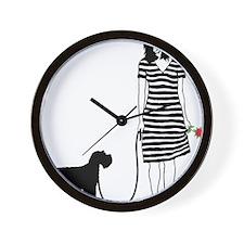 Miniature-Schnauzer11 Wall Clock