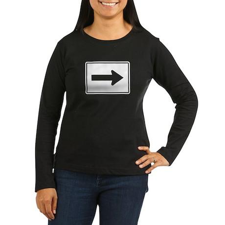 Directional Arrow Right - USA Women's Long Sleeve