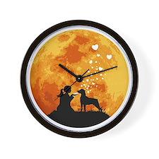 Mountain-Cur22 Wall Clock