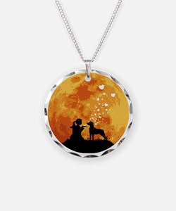Mountain-Cur22 Necklace Circle Charm