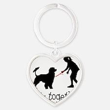 Portuguese-Water-Dog05 Heart Keychain