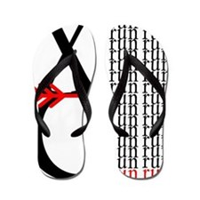 XC Run Red Black Flip Flops