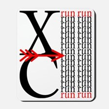XC Run Red Black Mousepad