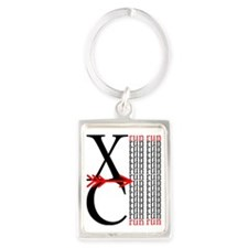 XC Run Red Black Portrait Keychain