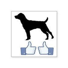 """Patterdale-Terrier07 Square Sticker 3"""" x 3"""""""