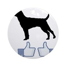 Patterdale-Terrier07 Round Ornament
