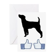 Parson-Russell-Terrier07 Greeting Card