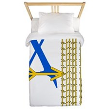 XC Run Blue Gold Twin Duvet
