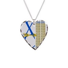 XC Run Blue Gold Necklace