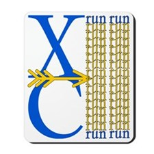 XC Run Blue Gold Mousepad