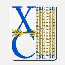 XC Run Blue Gold Mousepad