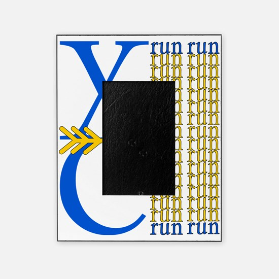 XC Run Blue Gold Picture Frame