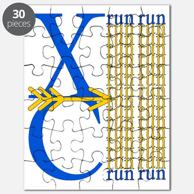 XC Run Blue Gold Puzzle