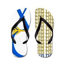 XC Run Blue Gold Flip Flops