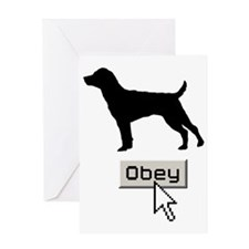 Patterdale-Terrier15 Greeting Card