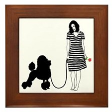 Poodle11 Framed Tile