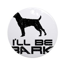 Patterdale-Terrier24 Round Ornament