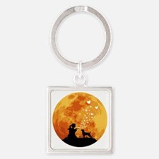 Patterdale-Terrier22 Square Keychain
