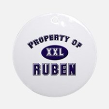 Property of ruben Ornament (Round)