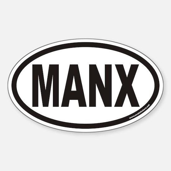 MANX Euro Oval Decal