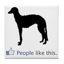 Scottish-Deerhound03 Tile Coaster