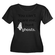 huntghos Women's Plus Size Dark Scoop Neck T-Shirt