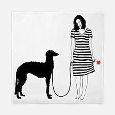 Scottish-Deerhound11 Queen Duvet