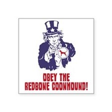 """Redbone-Coonhound18 Square Sticker 3"""" x 3"""""""