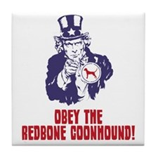 Redbone-Coonhound18 Tile Coaster