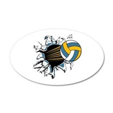 Volleyball Burst Wall Decal