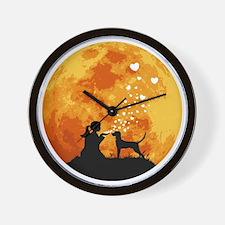 Redbone-Coonhound22 Wall Clock