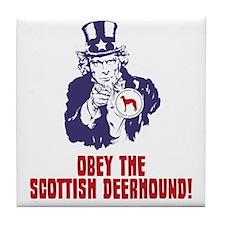 Scottish-Deerhound18 Tile Coaster