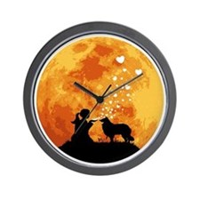 Rough-Collie22 Wall Clock