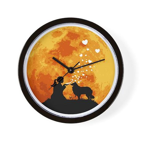 Rough-Collie22 Wall Clock