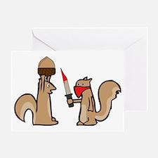 nut thief Greeting Card