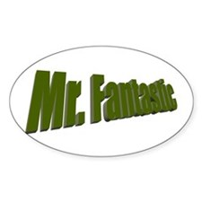 Mr. Fantastic Oval Decal