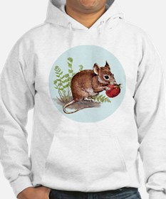 Woodland Mouse - round ornie 3 Hoodie