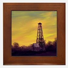 old derick sunset panel print Framed Tile