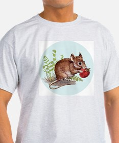 Woodland Mouse - round ornie 3 T-Shirt