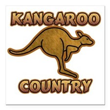 "Kangaroo Country C1c cop Square Car Magnet 3"" x 3"""