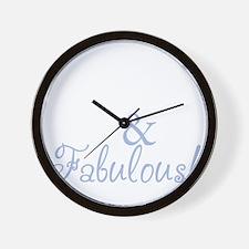 40 and fabulous_dark Wall Clock