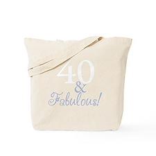 40 and fabulous_dark Tote Bag