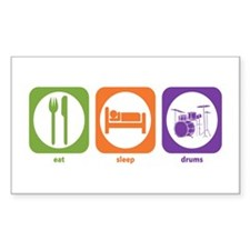 Eat Sleep Drums Rectangle Decal