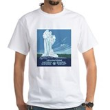 National parks Mens Classic White T-Shirts